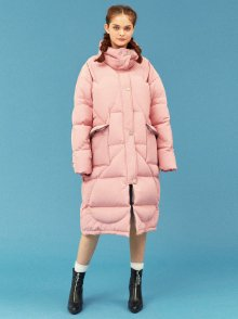 HEART OVERSIZE LONG DOWN JUMPER_PINK (EEOG4DJR01W)