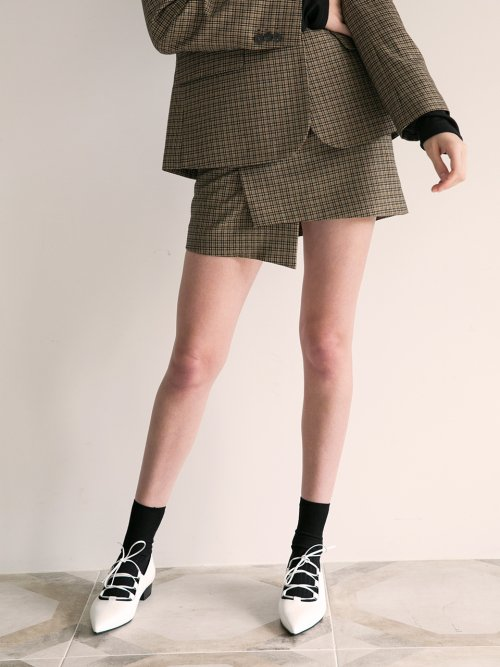 로지에(ROSIER) 18fw day by day skirt check