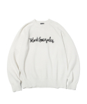 마크 곤잘레스(MARK GONZALES) M/G LOGO KNIT SWEATER IVORY