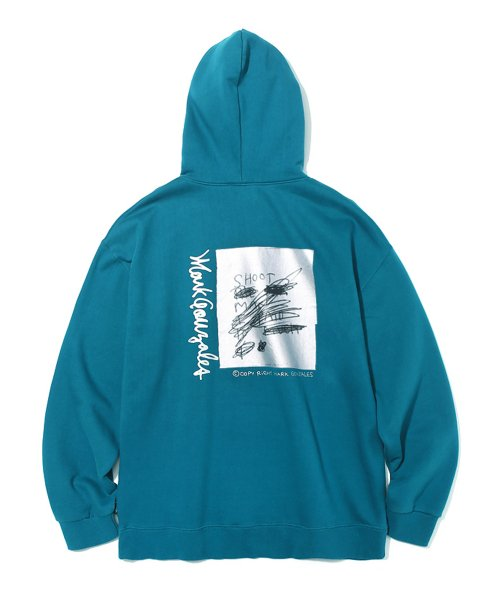 마크 곤잘레스(MARK GONZALES) MARK GONZALES SHOOT HOODIE LIGHT BLUE