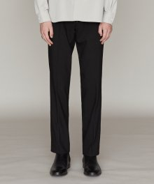 WOOL STRAIGHT SLACKS