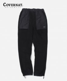 FLEECE  FATIGUE PANTS BLACK