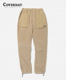 FLEECE  FATIGUE PANTS BEIGE
