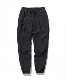 Zippered nylon pants - Black
