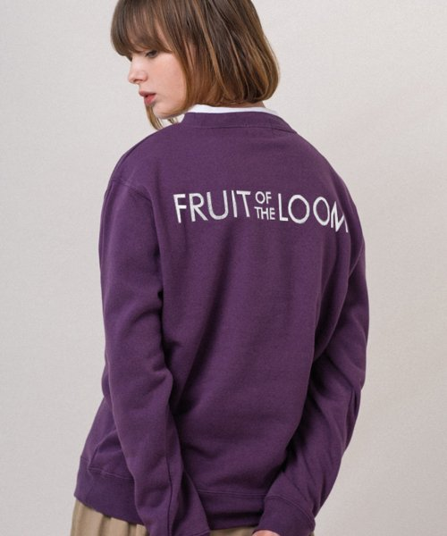 프룻오브더룸(FRUIT OF THE LOOM) FTL SMALL LOGO CREWNECK PURPLE