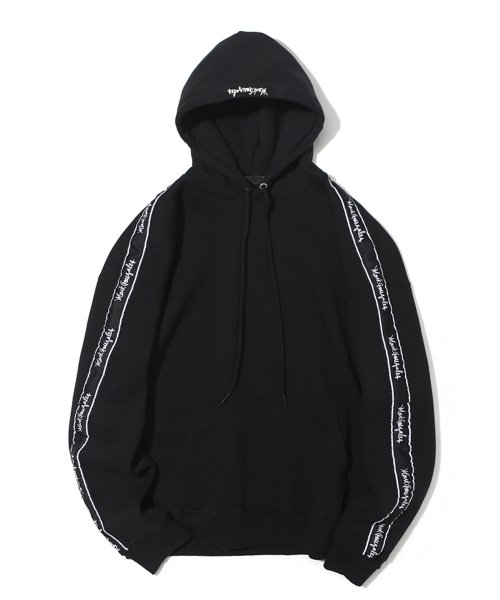 마크 곤잘레스(MARK GONZALES) M/G SIDE LINE HOODIE BLACK