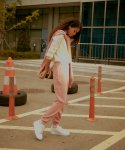 누엔(NOUVENE) New Garment Dyed Sweatpants Pink