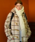 메인부스(MAINBOOTH) 8F Oversized Duffle Coat(IVORY CHECK)