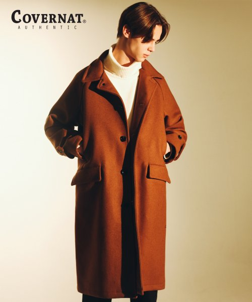 커버낫(COVERNAT) WOOL MAC COAT CAMEL
