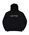 AUTOGRAPH LOGO HOODIE - BLACK/GREEN