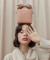 오아이오아이(OiOi) CUBE RIBBON BAG_pink beige