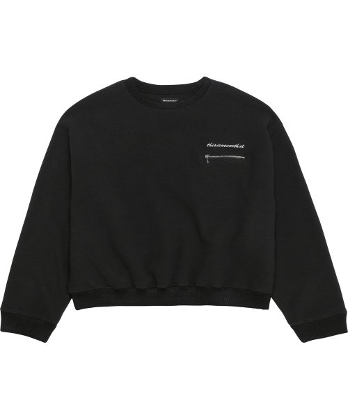 디스이즈네버댓(THISISNEVERTHAT) Fleece Crew Black