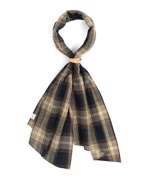 MD CHECK SCARF (navy)