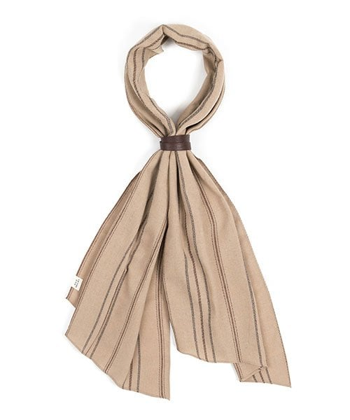 와일드 브릭스(WILD BRICKS) EN STRIPE SCARF (beige)