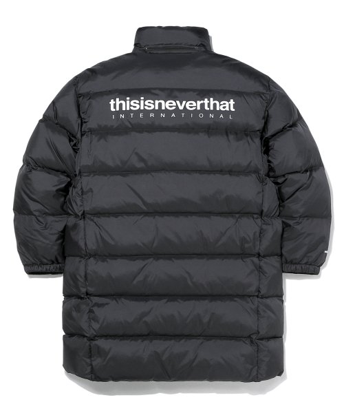 디스이즈네버댓(THISISNEVERTHAT) INTL. Logo CITY Down Parka Black