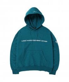 LMC CLEAR PATCH OVERSIZED HOODIE dk teal