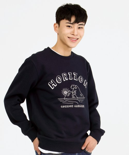 커먼가먼트(COMMONGARMENT) [750g] HORIZON SWEAT SHIRT -NAVY-