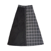 BLACK CHECK COLOR LONG SKIRT [강한솔]