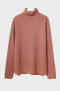 18aw heavy wool turtle neck knit [coral pink]