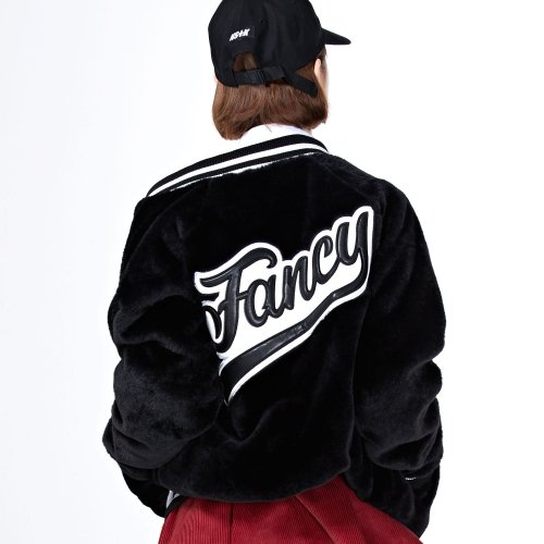 네스티팬시클럽(NASTY FANCY CLUB) [NF] FANCY FUR JACKET BLACK (NF18A099H)