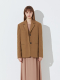 TWILL COTTON TWO BUTTON JACKET_CAMEL