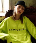 카멜워크(CAMEL WORK) Basic Logo Over-Fit Sweatshirts(Neon)