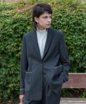 벨리에(BELIER) Shawl collar Stitched jacket / Grey
