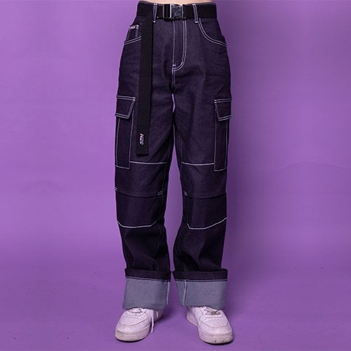 노이지컴퍼니(NOIZYCOMPANY) DENIM STICH PANTS (INDIGO)