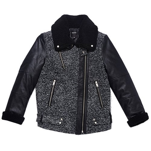 누디진(NUDIEJEANS) WOMENS MIXED FABRIC COATBLACK VE3JK201