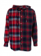Double Check mixed hood shirt (RED)