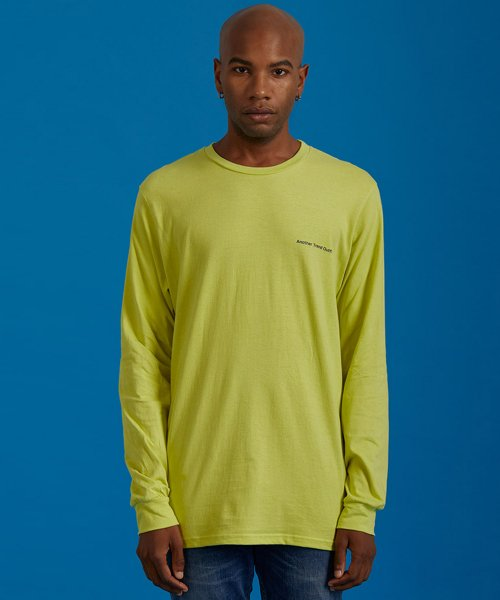 아토(ATO) FLAG TEE_(neon yellow)
