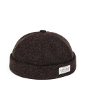 와일드 브릭스(WILD BRICKS) WOOL MELANGE BRIMLESS CAP (brown)