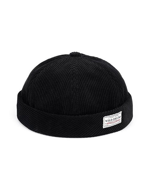 와일드 브릭스(WILD BRICKS) BS CORDUROY BRIMLESS CAP (black)