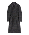 MARCUS ROBE COAT (grey check)