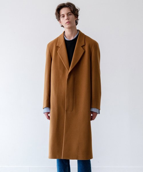 인사일런스(IN SILENCE) CASHMERE TAILORED COAT (caramel brown)