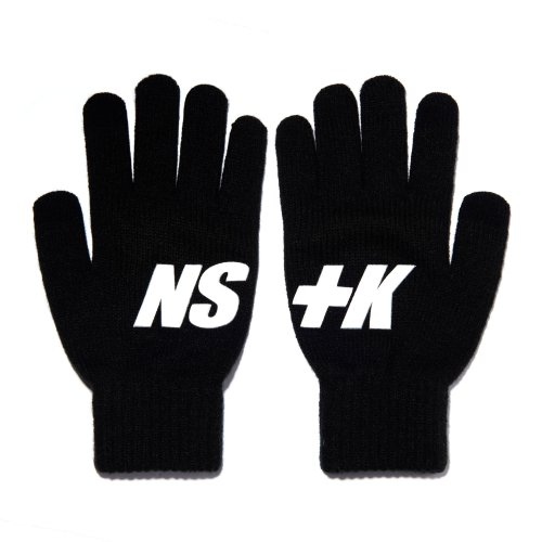 네스티킥(NASTYKICK) [NK] NSTK BASIC LOGO GLOVES BLACK (NK18A102H)