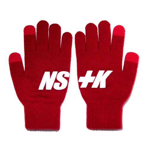 네스티킥(NASTYKICK) [NK] NSTK BASIC LOGO GLOVES RED (NK18A102H)