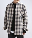 쟈니웨스트(JHONNY WEST) Wooltan Check Shirts (Cream)
