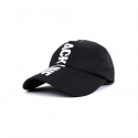 바이브레이트() VLACK LINE - CROWN EMBROIDERY BALL CAP (BLACK)