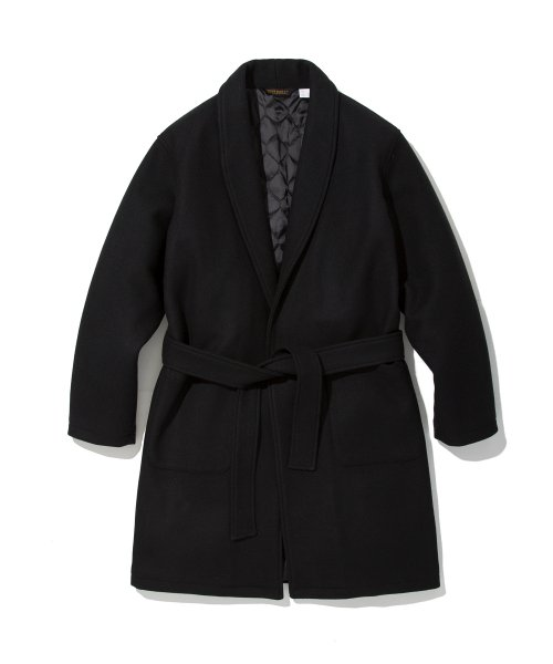 유니폼브릿지(UNIFORM BRIDGE) 18fw wool robe coat black
