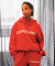 루블랑(LOUPS BLANCS) Logo Half Zip-up Turtle Neck HOOD [RED]