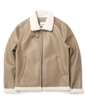 큐티에잇() ND B-3 Mouton Jacket (Beige)
