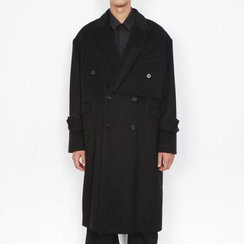 도조(DOZOH) BLACK LAYER WOOL CASHMERE COAT