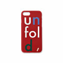 언폴드(UNFOLD) logo iphone case - red