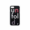 언폴드(UNFOLD) logo iphone case - black