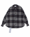 OVERSIZE WOOL HEAVY FLANNEL CHECK SHIRT