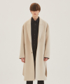 WOOL ROBE COAT CREAM