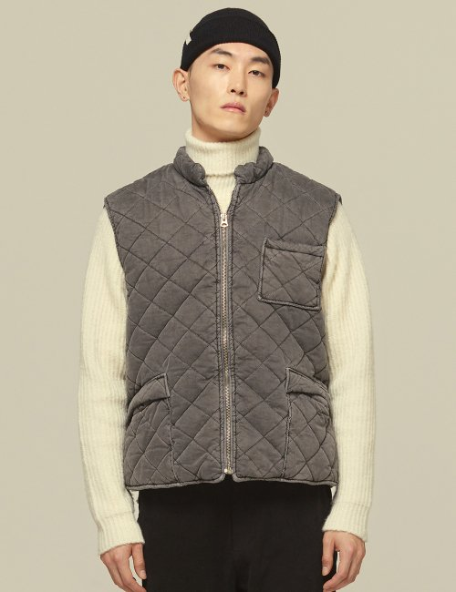 텐모어(TENMORE) M-PIGMENT WINTER VEST-CHARCOAL