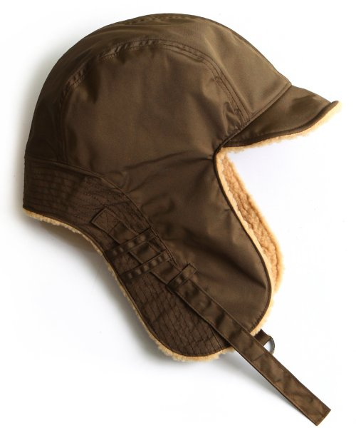슬리피슬립(SLEEPYSLIP) [unisex]F/W REVERSIBLE SATIN TROOPER HAT BROWN