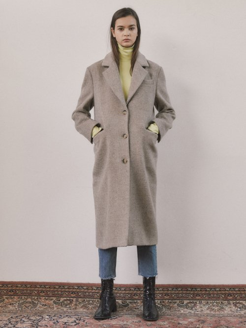 로지에(ROSIER) 18fw classic single coat oatmeal